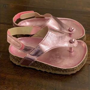 Carter's Shiny Pink Sandals w/ cork Size 7